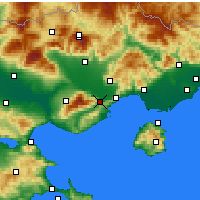 Nearby Forecast Locations - Eleftheroupoli - карта