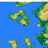 Nearby Forecast Locations - Plomari - карта