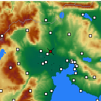 Nearby Forecast Locations - Koufalia - карта