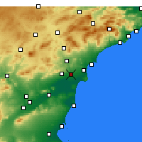 Nearby Forecast Locations - Эльче - карта