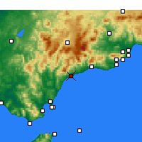 Nearby Forecast Locations - Эстепона - карта