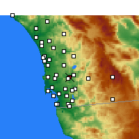 Nearby Forecast Locations - San Diego/Gil. - карта