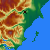 Nearby Forecast Locations - Big River L. - карта