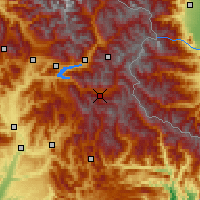 Nearby Forecast Locations - Valle de l'Ubaye - карта