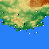 Nearby Forecast Locations - Cuers - карта