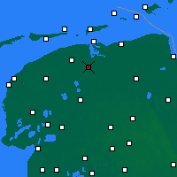 Nearby Forecast Locations - Kollumerland c.a. - карта