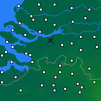 Nearby Forecast Locations - Zevenbergen - карта