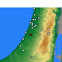 Nearby Forecast Locations - Kfar HaRif - карта