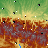 Nearby Forecast Locations - Aspin-Aure - карта