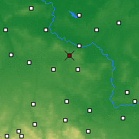 Nearby Forecast Locations - Wierzchowice - карта