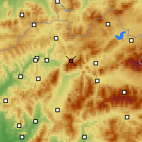 Nearby Forecast Locations - Terchová - карта