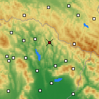 Nearby Forecast Locations - Zbudská Belá - карта