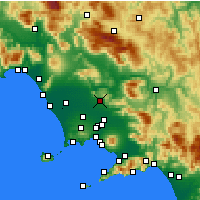 Nearby Forecast Locations - Казерта - карта