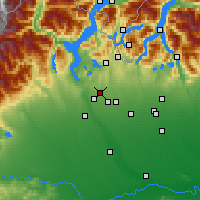 Nearby Forecast Locations - Галларате - карта