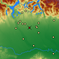 Nearby Forecast Locations - Ро - карта
