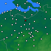 Nearby Forecast Locations - Wachtebeke - карта