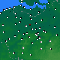 Nearby Forecast Locations - Lochristi - карта