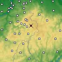 Nearby Forecast Locations - Bütgenbach - карта