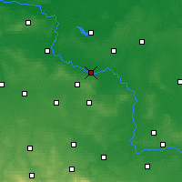 Nearby Forecast Locations - Głogów - карта