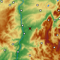 Nearby Forecast Locations - Bourg-de-Péage - карта