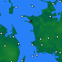 Nearby Forecast Locations - Калуннборг - карта