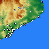Nearby Forecast Locations - Канет-де-Мар - карта