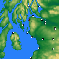 Nearby Forecast Locations - Inverkip - карта