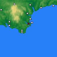 Nearby Forecast Locations - Дартмут - карта
