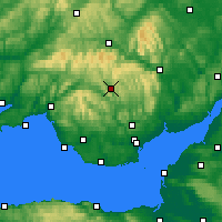 Nearby Forecast Locations - Merthyr Tydfil - карта