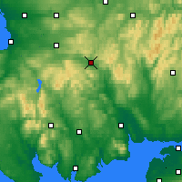 Nearby Forecast Locations - Sanquhar - карта