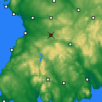 Nearby Forecast Locations - Cumnock - карта
