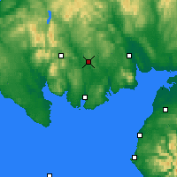 Nearby Forecast Locations - Loch Ken - карта