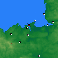 Nearby Forecast Locations - Сен-Мало - карта