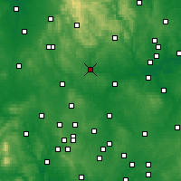 Nearby Forecast Locations - Uttoxeter - карта