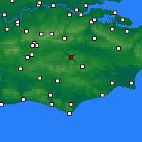 Nearby Forecast Locations - Royal Tunbridge Wells - карта