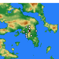 Nearby Forecast Locations - Agia Paraskevi - карта