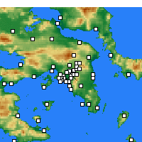 Nearby Forecast Locations - Galatsi - карта