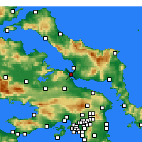 Nearby Forecast Locations - Халкида - карта