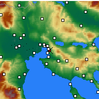 Nearby Forecast Locations - Pylaia - карта