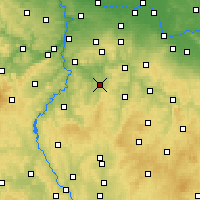 Nearby Forecast Locations - Бенешов - карта