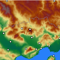 Nearby Forecast Locations - Фалакро - карта
