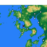 Nearby Forecast Locations - Nagasaki AP - карта