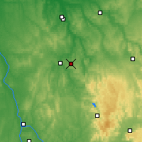 Nearby Forecast Locations - Saint-Fargeau - карта