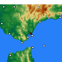 Nearby Forecast Locations - Сан-Роке - карта