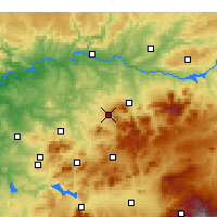 Nearby Forecast Locations - Мартос - карта