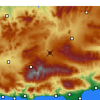 Nearby Forecast Locations - Гуадикс - карта
