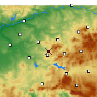 Nearby Forecast Locations - Кабра - карта