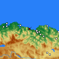 Nearby Forecast Locations - Кастро-Урдьялес - карта