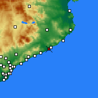 Nearby Forecast Locations - Бланес - карта