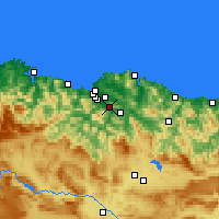 Nearby Forecast Locations - Santutxu - карта